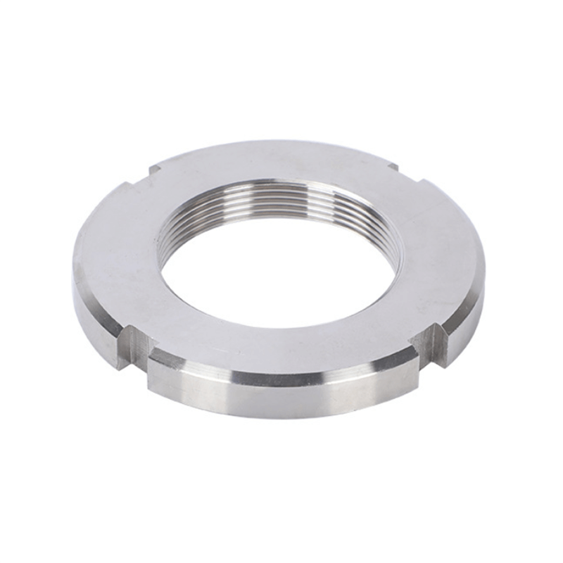 Stainless steel round nut, stainless steel slotted nut