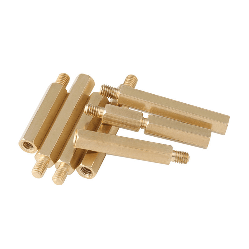 M4M5+6 brass single-head hexagonal copper column, chassis single-pass nut, column support isolation column circuit board terminal